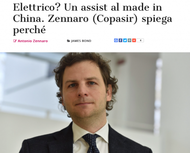 Formiche.net - Elettrico? Un assist al made in China. Zennaro (Copasir) spiega perché